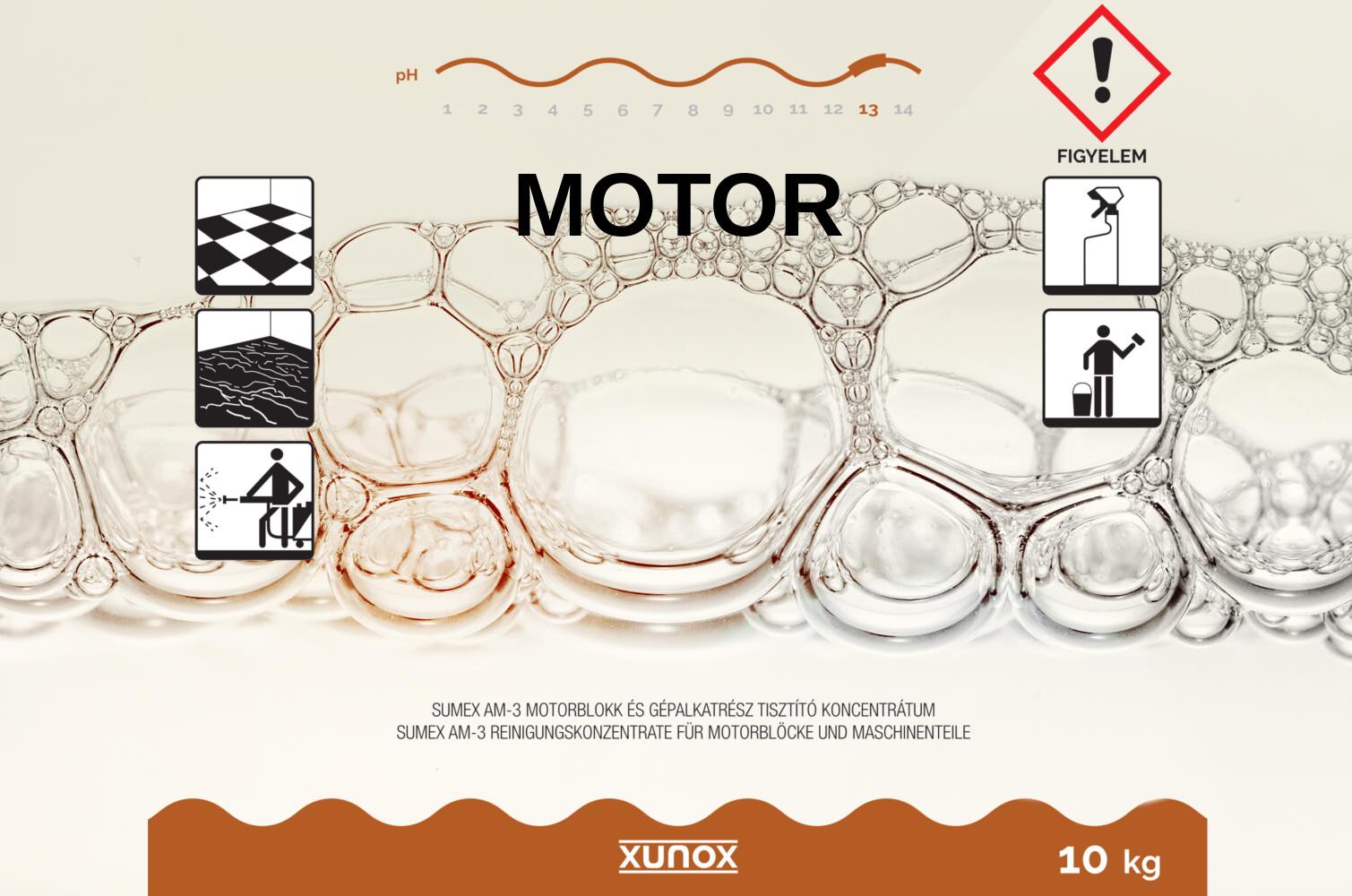 Xunox gépalkatrész tisztítószer koncentrátum